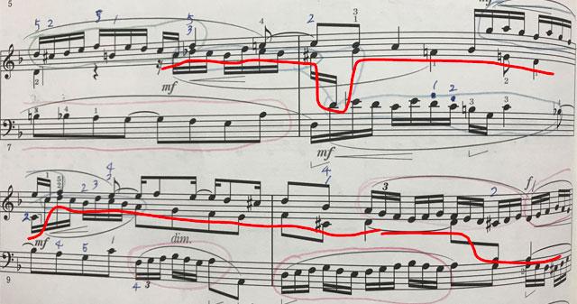 バッハ 平均律クラヴィーア曲集 2巻 ニ短調 フーガ 楽譜